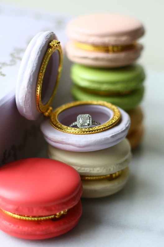 french macaron ring box for wedding proposals j 39 adore